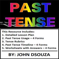 PAST+TENSE:+LESSON,+RESOURCES+&+WORKSHEETS+from+JOHN421969+on+TeachersNotebook.com+-++(10+pages)++-+This+resource+contains+everything+you+need+to+teach+past+tense+in+your+classroom.+