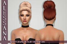 Alessana Sims: Nightcrawler`s Flirt hair retextured  - Sims 4 Hairs - http://sims4hairs.com/alessana-sims-nightcrawlers-flirt-hair-retextured/