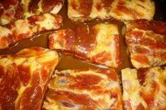 Vepřová pečená marinovaná žebírka   NejRecept.cz Bacon, Breakfast, Recipes, Food, Morning Coffee, Essen, Meals, Ripped Recipes, Eten