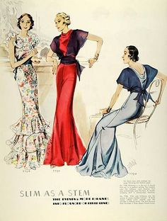 1934 McCall patterns featuring McCall 7754 and 7750