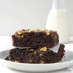 Grain-free, Chocolate Banana Bread Brownies are amazingly moist and fudgy.   low carb, gluten-free, dairy-free, Paleo   https://lowcarbmaven.com