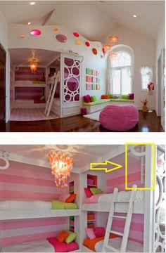 Hidden room above the bunks http://www.houzz.com/projects/397787/Riverton---Ewell