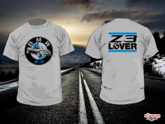 Two-sided design in two colors. 'Z3 Lover' text on the back. #Tshirts #BMW #z3 #roadster #cars