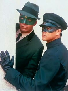 The Green Hornet played by Van Williams and Kato, played by Bruce Lee