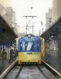 MASATO WATANABE - Acuarelista japonés - Watercolor - Maestro de la perspectiva