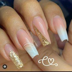Bling Acrylic Nails, Pink Nails, Coffin Nails, French Manicure Nail Designs, Nail Candy, Square Nails, Mani Pedi, Nail Inspo, Nails Inspiration