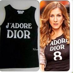 Dior Tops - Christian Dior J'Adore Dior Shrunken Tank Top