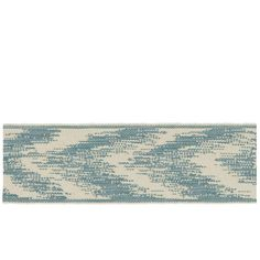 """French General 2.25"""" Charente Trim Bleu from @fabricdotcom  Use this versatile trim tape for accents on draperies, valences, duvet covers, and toss pillows."""