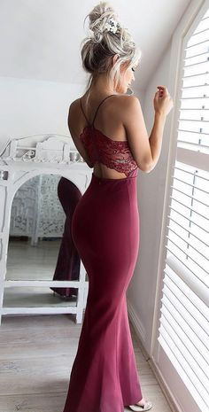 burgundy mermaid long prom dresses new arrival, 2017 new arrival prom dresses high quality, sexy burgundy prom gowns, dresses for women, women's prom dresses