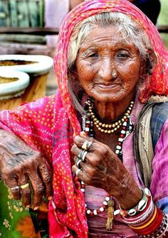 old Roma woman