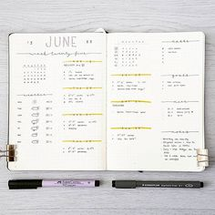 The Best Minimalist Bullet Journal Inspiration : You Need To See This! Planner Bullet Journal, Bullet Journal Notes, Bullet Journal Ideas Pages, Bullet Journal Spread, Bullet Journal Layout, Bullet Journal Inspiration, Journal Pages, Weekly Log, Bullet Art