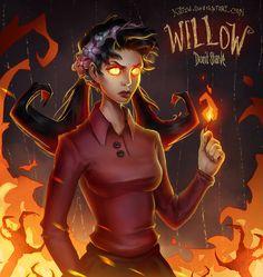 #willow #donststarve #wilson #burn #fire #dont #starve #girl #evil #kittew #art #draw #pretty