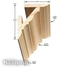 How to Install Crown Molding How to Install Crown Molding This three-piece crown molding technique simplifies installation and the results. Cut Crown Molding, Wood Molding, Molding Ideas, Base Moulding, Crown Molding Installation, Trim Carpentry, House Trim, Trim Work, Moldings And Trim