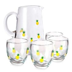 Buy Welcome Beverage Set in Pineapple from Bed Bath & Beyond