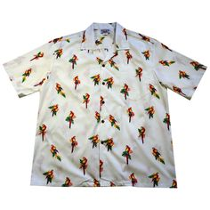 Just listed on our store, the Parrots White Cot.... http://papayasun.com/products/parrots-white-cotton-hawaiian-shirt?utm_campaign=social_autopilot&utm_source=pin&utm_medium=pin