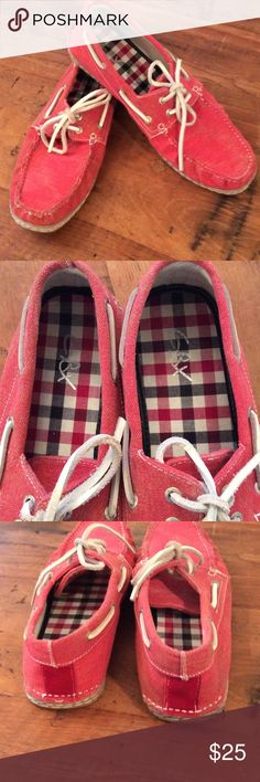 GBX men Nice red leather ties shoes, size 12, worn a few times, light weight and comfy.  By GBX GBX Shoes Boat Shoes