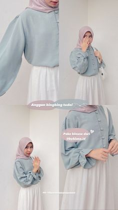 Hijab Style Dress, Casual Hijab Outfit, Ootd Hijab, Cute Casual Outfits, Modesty Fashion, Hijab Fashion, Fashion Outfits, Korean Outfits, Retro Outfits