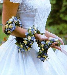 A lovely way to wear flowers unusual wedding bouquet unique wedding bouquet
