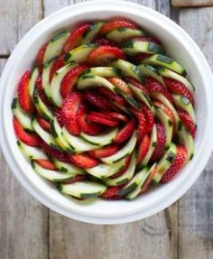 Strawberry-Cucumber-Salad-with-a-light-honey-balsamic-dressing-thats-perfect-for-warm-summery-nights #best recipe to try