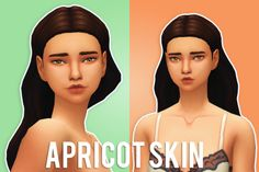 "simcism: "" APRICOT SKIN - 1000 FOLLOWERS GIFT PART ONE ""The first pat of my 1000 followers gift, is a skinblend I made. It has a 'dewy' look, while still being kind of matte. For now it's only for females, but I think i'll work on a male version as..."