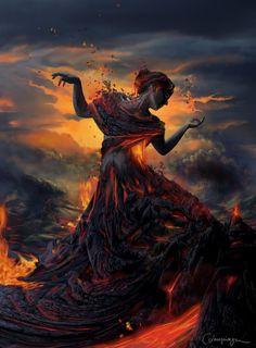 fire goddess pinned with Bazaart