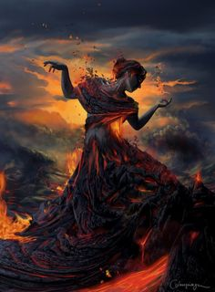 fire goddess pinned with Bazaart