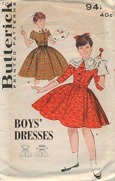 1950s boys wear - yes a dress!  Hmmm. #wtf  #comedy  #funny