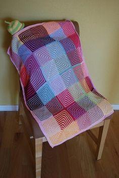 mitered knit blanket pattern