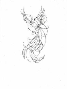 feminine phoenix tattoos | Phoenix. Feminine and delicate.