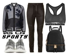 """""""Sporty Chic"""" by mollie-simmonds ❤ liked on Polyvore featuring Balmain, Calvin Klein Underwear, 3.1 Phillip Lim, adidas Originals and Michael Kors"""
