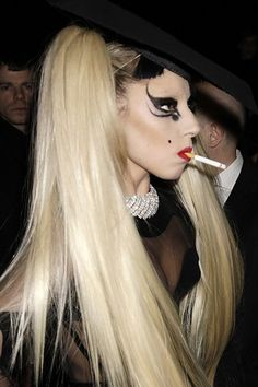 Lady Gaga - do what you want in life unless it harms others. Your second hand smoke harms others. Butt it out.
