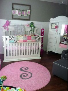 Custom Nursery Rugs With Initial Or Monogram Personalized Kids Pinterest And Initials