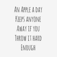 WEBSTA @ fashionairy - Here's an apple, now throw it hard enough via @purewow
