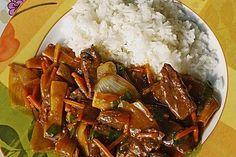 Rindfleisch mit Zwiebeln, ein sehr leckeres Rezept aus der Kategorie Wok. Bewertungen: 116. Durchschnitt: Ø 4,3.