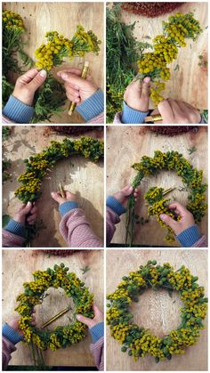 DIY: Simpel dørkrans - trin for trin - ByBetty Diy Fall Wreath, Autumn Wreaths, Christmas Wreaths, Christmas Decorations, Pine Cone Decorations, Flower Decorations, Flower Studio, Wreath Forms, Wreath Tutorial