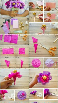 Ferrero Chocolate Bouquet for Valentine's {Tutorial} Candy Bouquet Diy, Diy Bouquet, Lollipop Bouquet, How To Make Paper Flowers, Tissue Paper Flowers, Candy Flowers, Diy Flowers, Chocolate Flowers Bouquet, Edible Bouquets