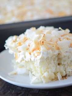 Coconut Sheet Cake from thenovicechefblog.com Could use own homemade cake and real whip cream