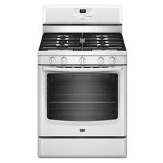 AquaLift 5.8 cu. ft. Gas Range with Self-Cleaning Oven in White-MGR8674AW at The Home Depot
