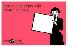 Yep that is the complete list! I do not see any peaceful Muslim countries not on this list! Good job...