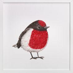 Red Birdie Self-Launch Children's Art Print Art Wall Kids, Art For Kids, Different Birds, Custom Art, Picture Wall, Amazing Art, Wall Art Prints, Aga, Painting Art