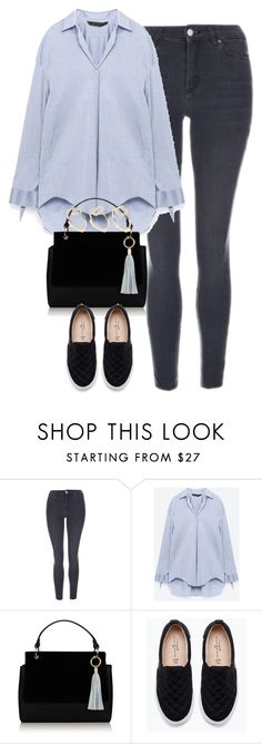 """Untitled #4378"" by keliseblog ❤ liked on Polyvore featuring Topshop, Zara and SELECTED"