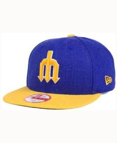 New Era Seattle Mariners Heather 2Tone Snapback Cap - Blue Adjustable