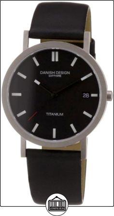 Danish Design 3316102 - Reloj de caballero de cuarzo, correa de piel color negro (con fecha) de  ✿ Relojes para hombre - (Gama media/alta) ✿