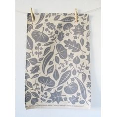 View larger image of Skinny LaminxLeaves Tea Towel Grey