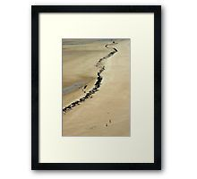 The Beach at Carteret, France Framed Print