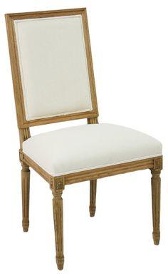 Morgan Side Chair, Ivory | La Belle Banquet | One Kings Lane