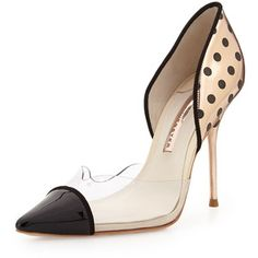 Sophia Webster Jessica Dotted Mixed-Media Pump - Black/Rose Gold (36.0B/6.0B)