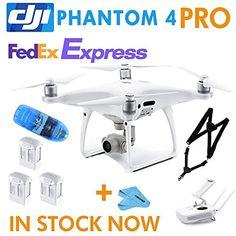 DJI Phantom 4 Pro ,RC Camera Drone QuadCopter ,2 Extra Battery (DJI-P4P 2BT)