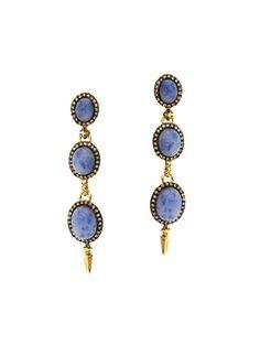 House of Harlow 1960 Blue Star Drop Earrings. A pretty blue.