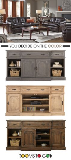 Entertainment centers should combine storage with beauty. Offering value, comfort and durability, the Sardinia collection is an outstanding choice. Shop entertainment centers and TV stands now!